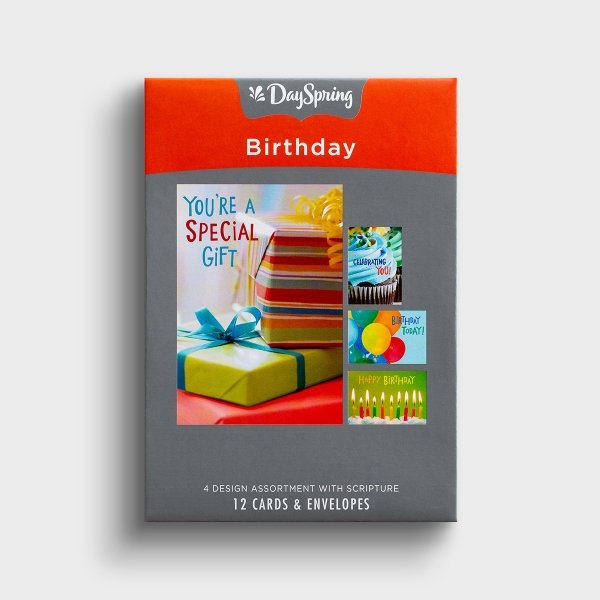 Birthday - Bright Blessings - 12 Boxed Cards