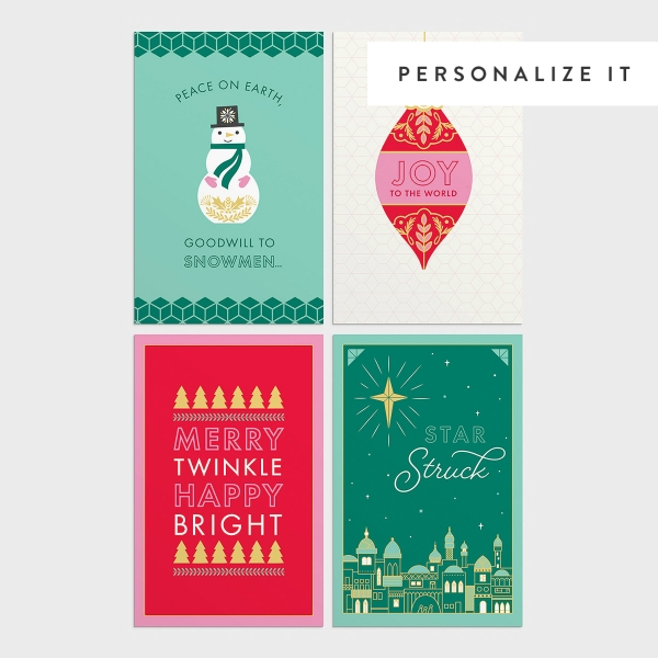Candace Cameron Bure - Merry & Bright - 50 Assorted Christmas Boxed Cards
