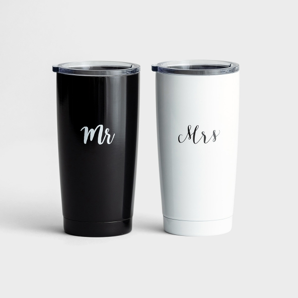 Mr and Mrs - Stainless Steel Tumblers Gift Set