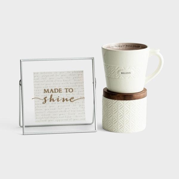 Made to Shine - Mug, Ceramic Box, and Plaque Gift Set