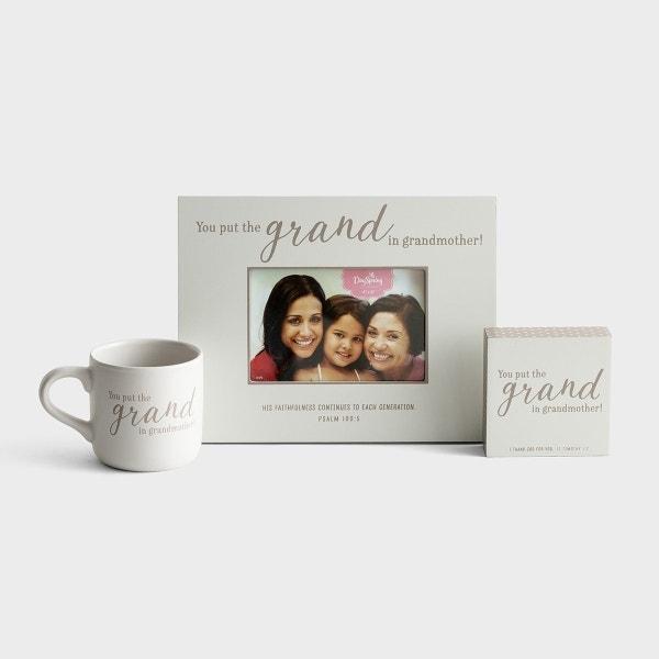 Grand Grandmother - Mug, Frame & Plaque - Gift Set