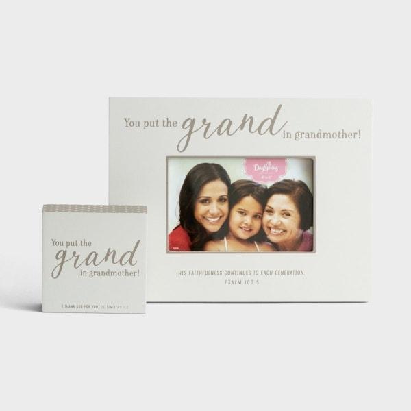 Grand Grandmother - Frame & Plaque - Gift Set