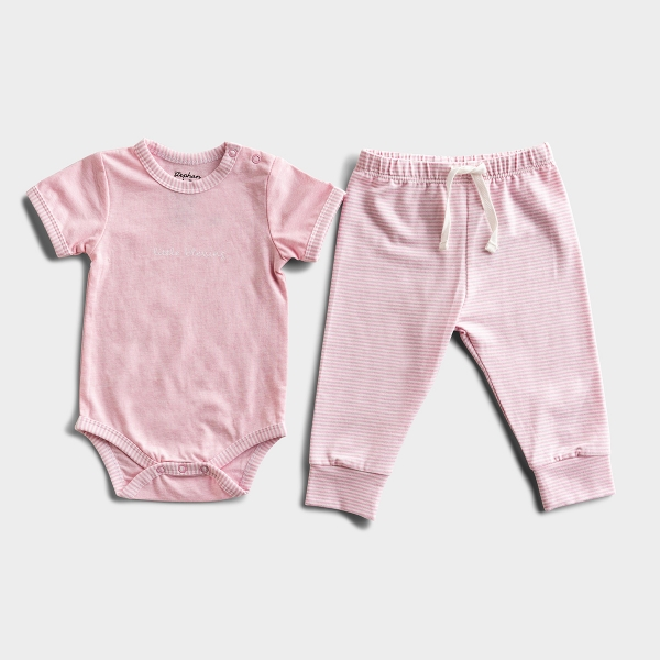 Little Blessing - Pink Striped Baby Outfit