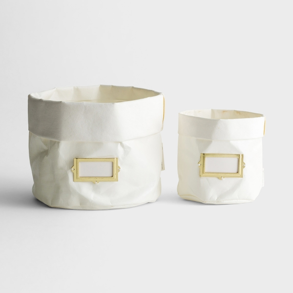 White Multi-Purpose Holders - Set of 2