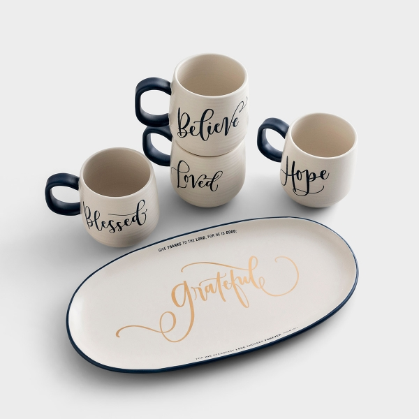 Artisan Ceramic Mugs & Platter