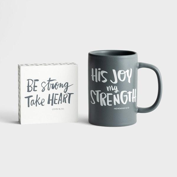 His Joy My Strength - True and Write - Mug & Plaque Gift Set