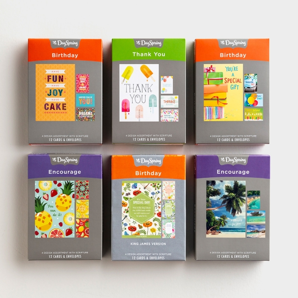 Summertime Fresh - Bundle of 6 Boxed Cards
