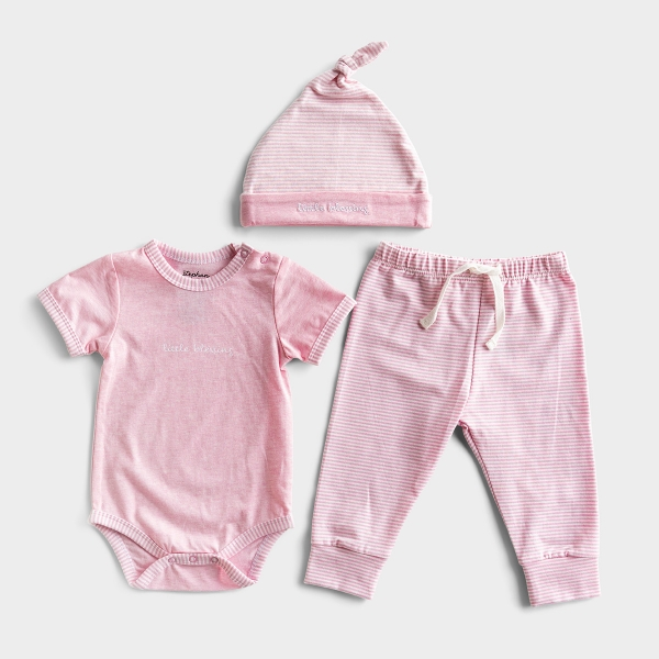 Little Blessing - Pink Baby Outfit