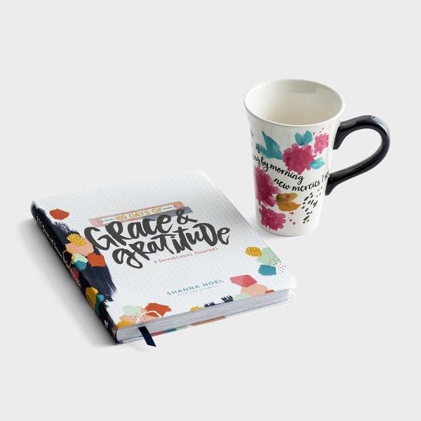 100 Days of Grace & Gratitude Book & Illustrated Faith Mug Gift Set