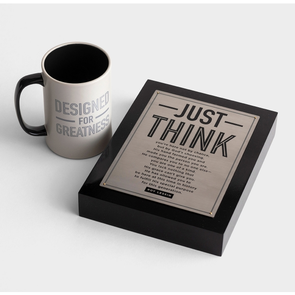 Just Think - Plaque & Mug Gift Set