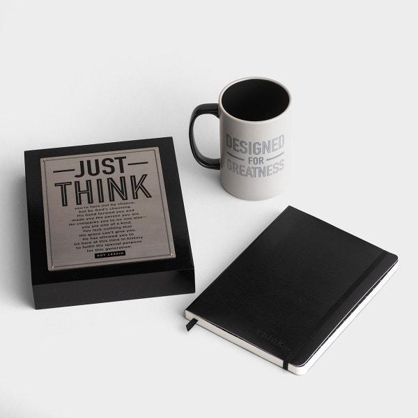 Just Think - Plaque, Journal, & Mug Gift Set