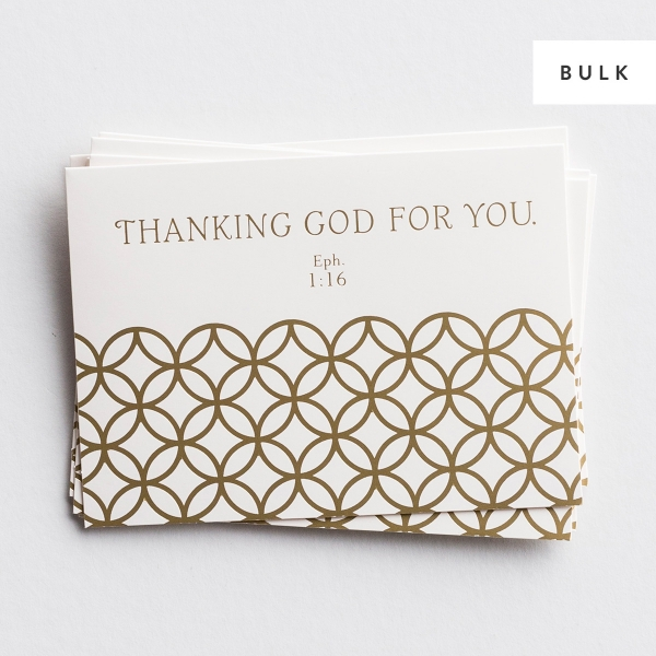 Thanking God For You - 72 Premium Note Cards Sets - Bulk Discount