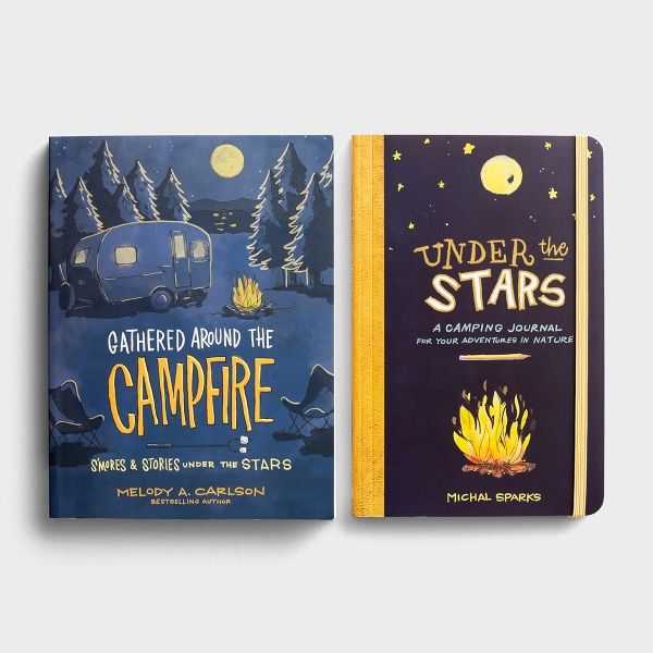 Under the Stars - Camping Journal and Book Gift Set