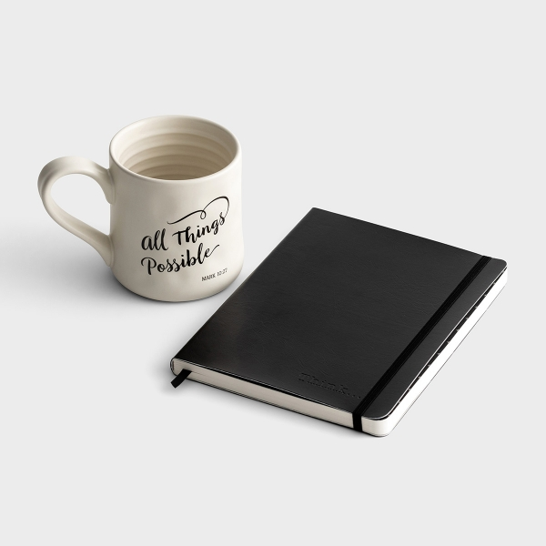 All Things Possible - Mug and Journal Gift Set