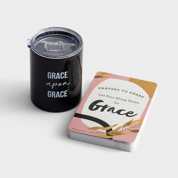 Grace - Coffee Tumbler & Prayers to Share - Gift Set