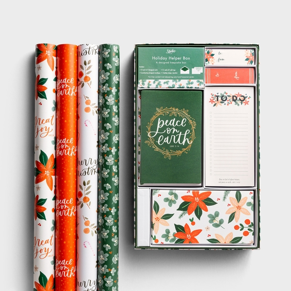 Studio 71 - Festive Florals - Holiday Helper and Wrapping Paper Bundle