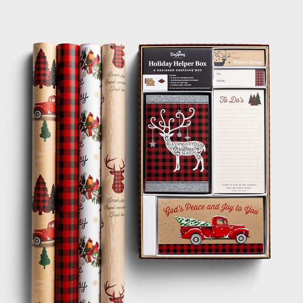 A Cozy Christmas - Holiday Helper and Wrapping Paper Bundle