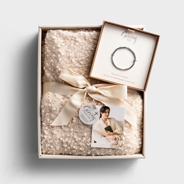 Faith Giving Shawl and Cross Pin - Gift Set