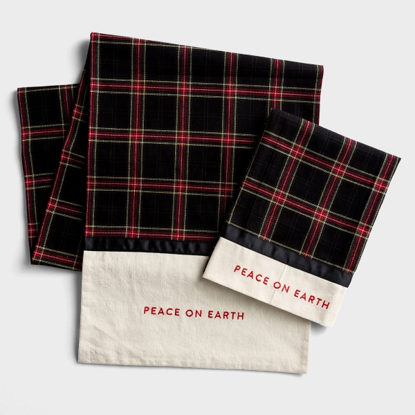 Candace Cameron Bure - Peace On Earth Tea Towel and Table Runner - Gift Set