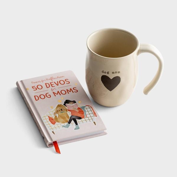 Paws for Reflection: 50 Devos for Dog Moms & Stoneware Mug - Gift Set