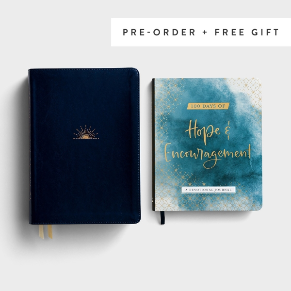 NLT - DaySpring Hope & Encouragement Bible - Navy LeatherLike