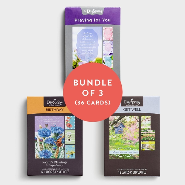 Get Well, Praying for You, Birthday - Bundle of 3 Boxed Cards