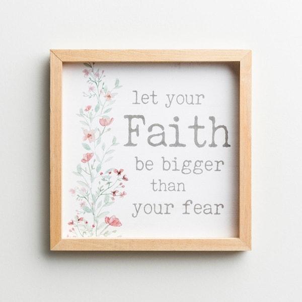 Faith Bigger Than Fear - Framed Wall Art