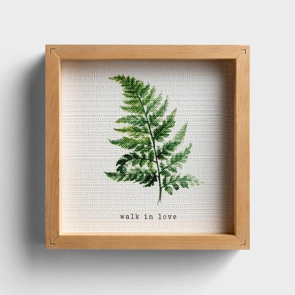 Walk in Love - Framed Textured Art