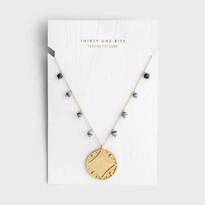 Early Light Gold Pendant Necklace with Beads