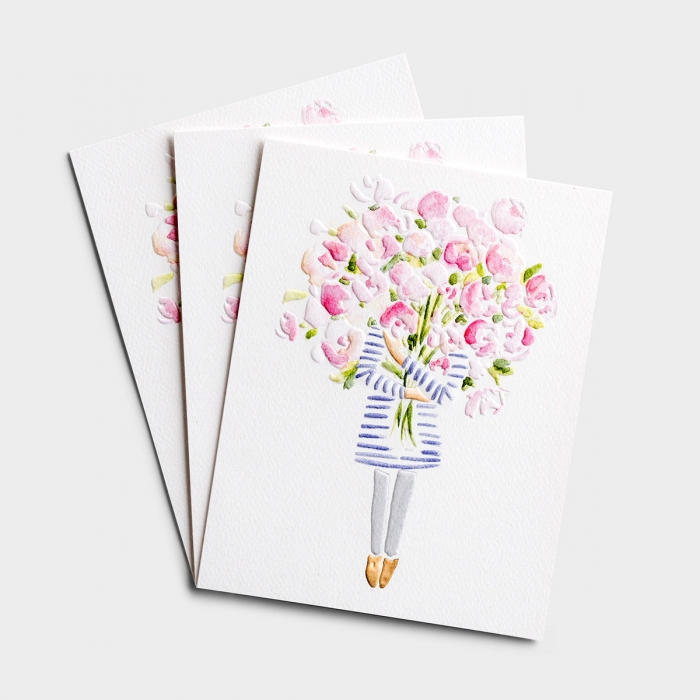 Make someone smile with this bouquet of thanks. Studio 71 premium cards are carefully crafted by DaySpring artists and printed on Royal Sundance White Felt, 72 lb. card stock. With an embossed cover and unique color palette.
