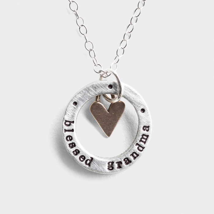 Blessed Grandma - Pewter Pendant Necklace