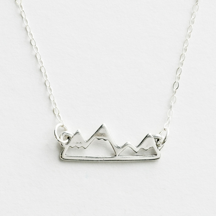 Faith Moves Mountains - Sterling Silver Pendant Necklace