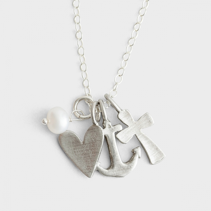 Faith, Hope, Love - Pewter Necklace