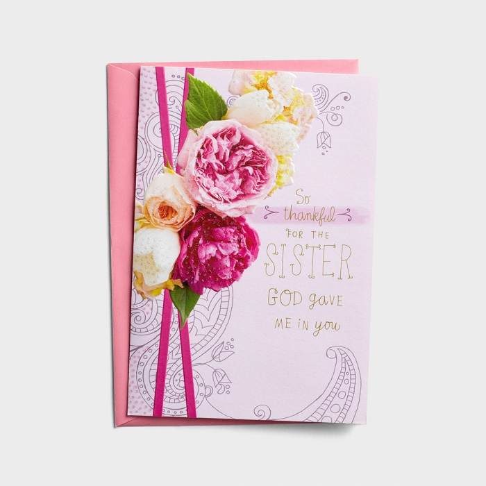 Mother's Day - For the Sister God Gave Me - 1 Premium Card
