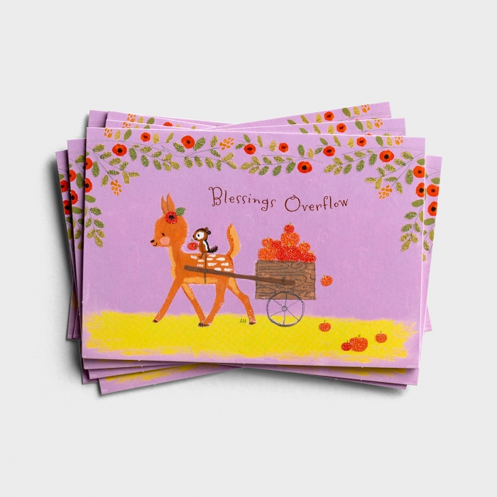 Thanksgiving - Blessings Overflow - 8 Note Cards
