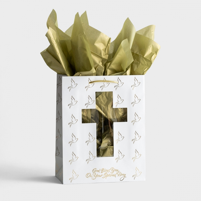 Confirmation/Communion - Large Gift Bag with Tissue