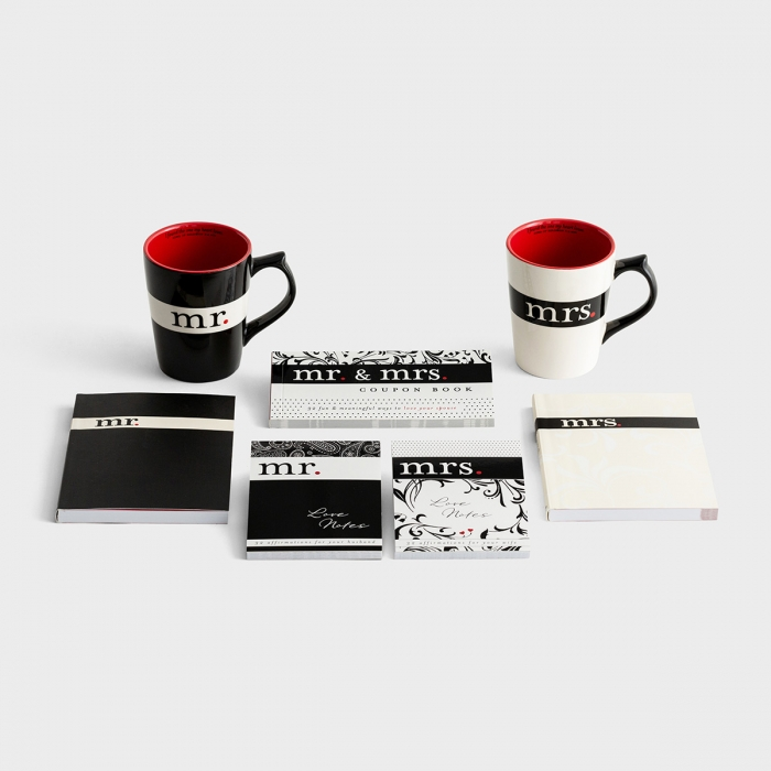 Mr. & Mrs. - Journals, Mugs, Love Notes, & Coupon Book Set