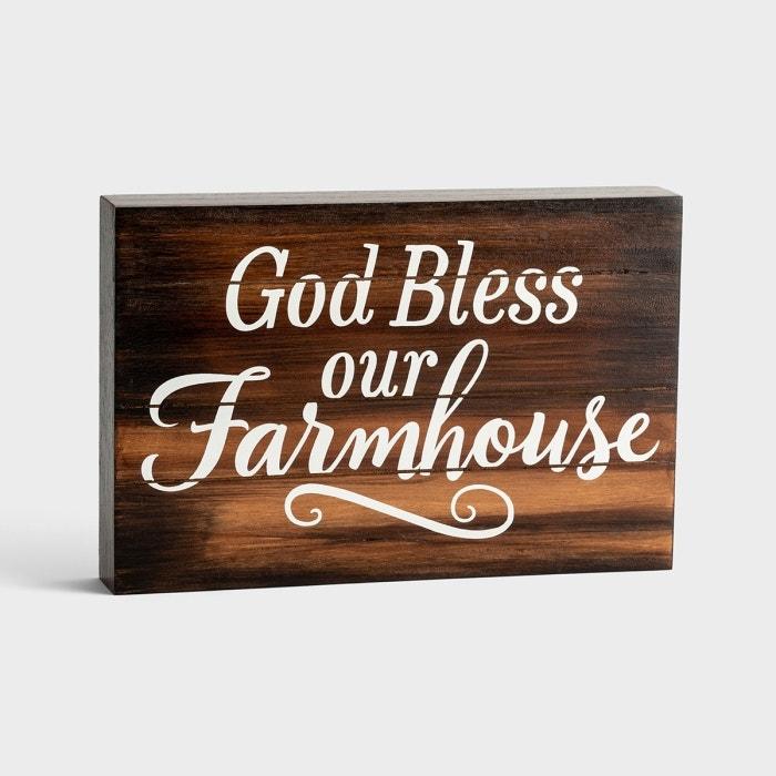 God Bless Our Farmhouse - Wooden Plaque