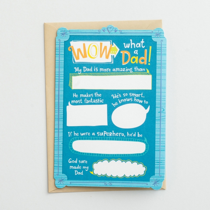 Father's Day - What A Dad! - 3 Premium Cards