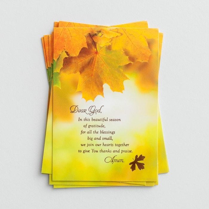 Thanksgiving - Beautiful Season of Gratitude - 8 Note Cards