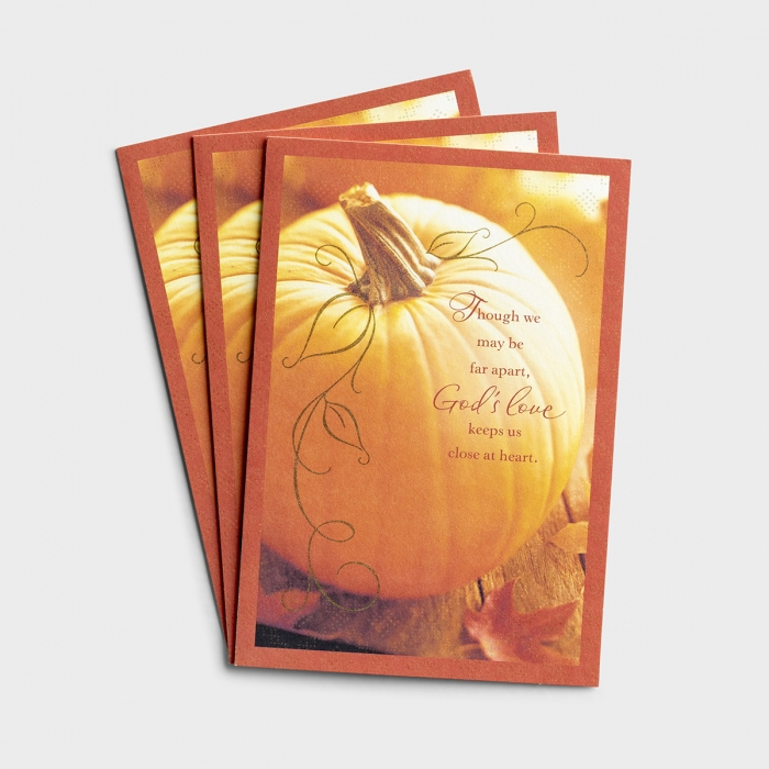 Thanksgiving - Though We May Be Apart - 3 Premium Cards