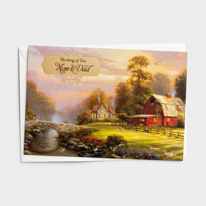 Thanksgiving - Thomas Kinkade - Mom and Dad - 1 Premium Card