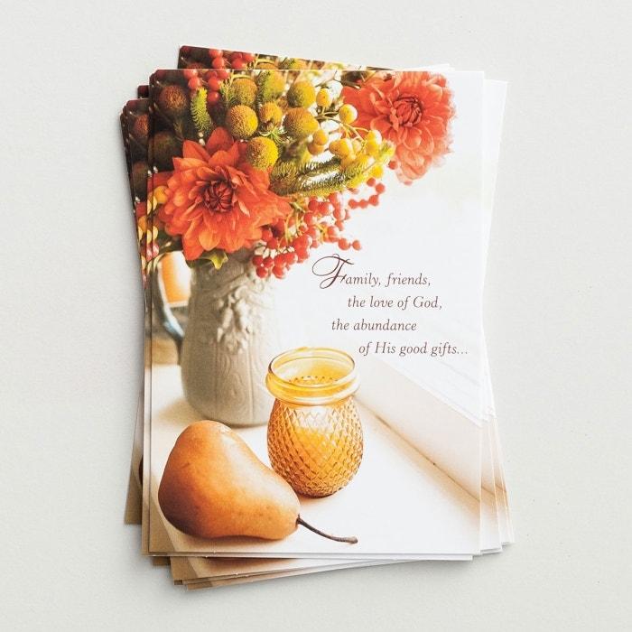 Thanksgiving - Family, Friends, the Love of God - 8 Note Cards, KJV