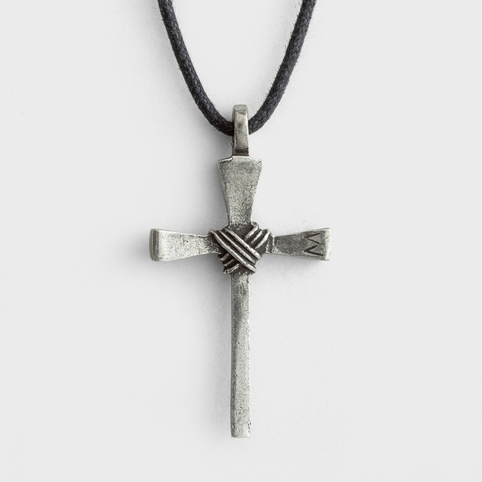 Nail Cross - Pewter Necklace