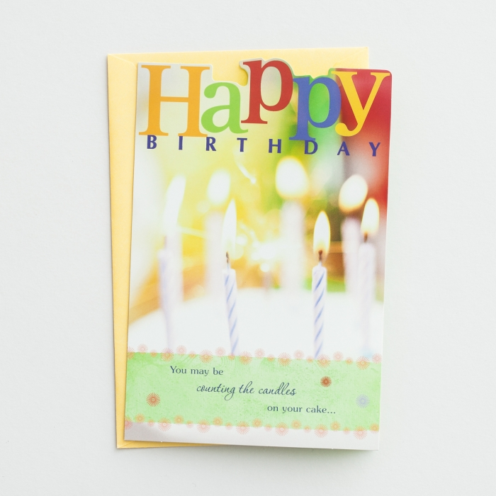 Bright Blessings - Birthday - Counting - 6  Premium Cards
