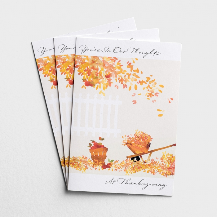 Thanksgiving - You're In Our Thoughts - 3 Premium Cards, KJV