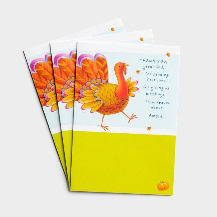 Thanksgiving - Child - Great God - 3 Premium Cards