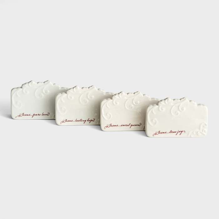 Love Came Down - Pure Love - Embossed Place Cards, Set of 4