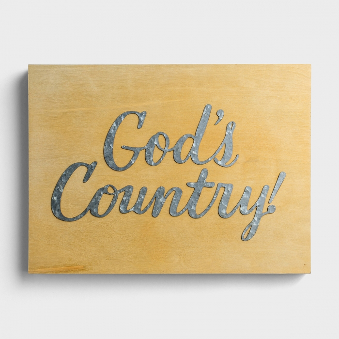 God's Country - Wood & Metal Wall Art