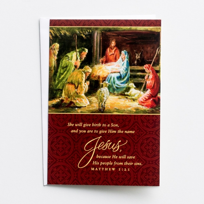 She Will Give Birth to a Son - 18 Christmas Boxed Cards